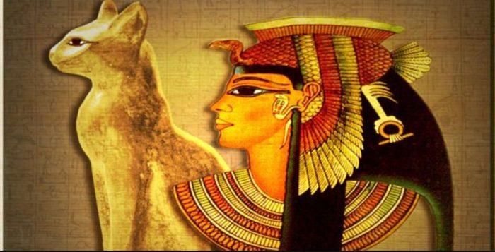 Resultado de imagen para pinturas  de gatos egipcios